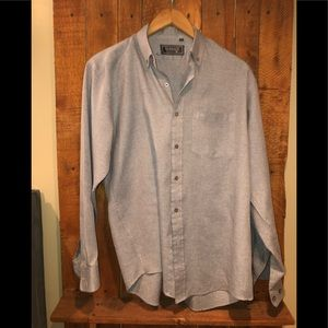 Versace Button Down. Gray. Size 17 34/35